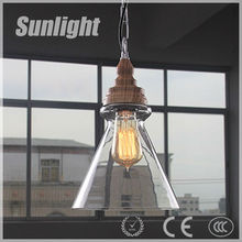Antique Chic Carbon Filament Edison Light Bulb Loft E27 glass pendant lamp/light Vintage Style glass pendant light