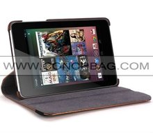 2012 Best selling 360 rotating leather case for Google Nexus 7