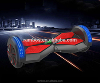 LED Light Self Balance 2 Wheel Electric Drift Scooters Bluetooth Hover Board with Bluetooth Speaker + Remote Control Key
