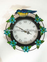 modern solar powered garden lighted outdoor clock