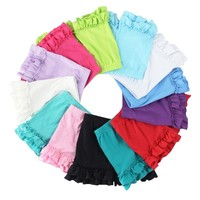 2015 Latest Design Hot Sale Newest Style For Girls Sexy Ruffle Shorts