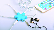 Compatible with phone 6 perfectly Headphone/earphone/headset splitter 6x3.5mm stereo jacks adapter No Volume Loss colorful