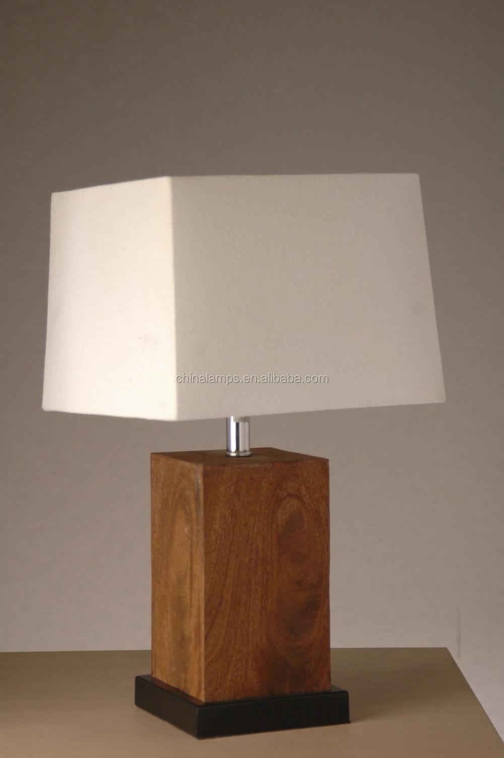 Antieke houten nachtkastje lampen lamp met lampenkap voor herberg ...