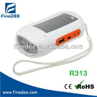 R313 Recharge Cellphone FM scan radio solar powered lamp and charger