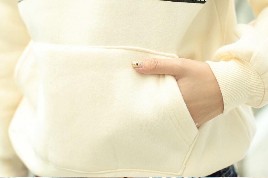 Весна & летних женщин & леди длинные Флисовая подкладка с капюшоном толстовки/олень узором пуловер пальто
