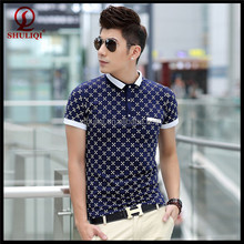 fashionable style summer blue mens polo t shirt company