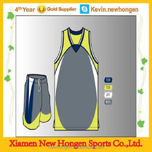 Contemporary crazy selling blue gray basketball team tops