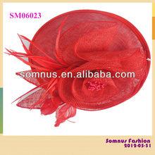 Somnus Fashion Ladies' Hair Accessory Sinamay Hair Fascinator for Wedding