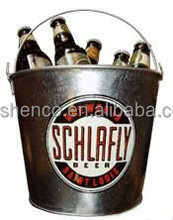 5L round metal ice bucket