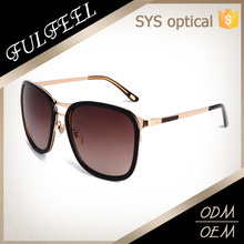Mixture acetate and metal light weight soft summer sunglasses