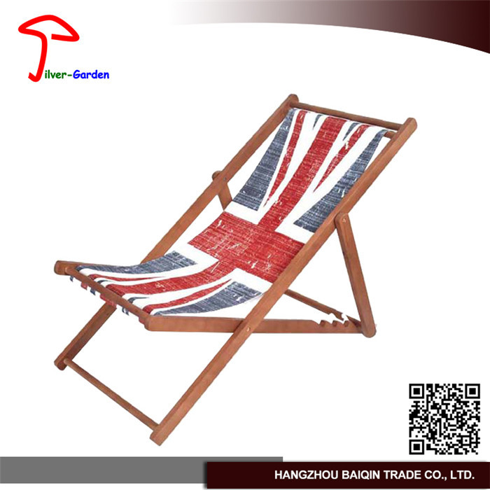 Bq High Quality Hot Sale Foldable Wooden Canvas Beach Folding Chair