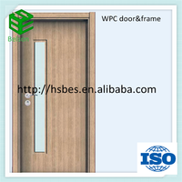 WPC material apartment decorative door with glass