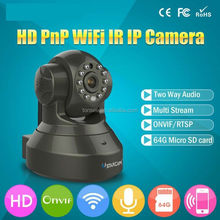HD H.264 1.0MP 720P 3DB Wireless WiFi IP Camera Home P2P Pan Tilt Network CCTV IP Security Camera SD Slot Two Way Audio ir cams