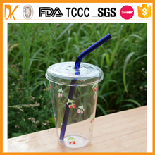 Promotional wholsale drinking bent glass straw