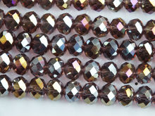 2*3mm púrpura ab cristal Roundelle cuentas 5040