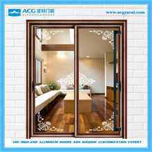 Flexible wooden grain interior 2 panel sliding door