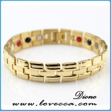 New arrival 2015 fashion healthy design jewelry germanium,negative ion,magnetic women tungsten bracelets factory