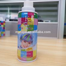 Fast impermanent hair black dye/ black hair spray/ dye spray