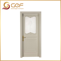 Wood glass door design with exquisite accessories