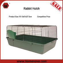 Competitive Price High Quality Customized Wire Mesh 101.5x51x37.5cm Indoor Metal Rabbit Hutch Rabbit Cage