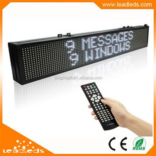 Made In China Newest Product RGB Led Moving Sign Indoor With Remote Edit Text Message