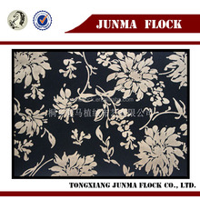 Golden Flower Pattern Print Flocked Fabric Used Clothing and Shoes
