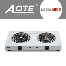 cast iron double burner electric stove hot plate