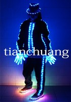 Michael Jackson Hip Hop Dance Suits with Shoes & Gloves / LED Performers Costumes