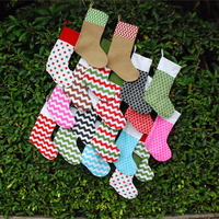 Free shipping via FedEx, Wholesale Christmas Stockings Christmas gift storage Chritmas Decoration buy in stock DOM-107044