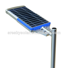 Motion Sensor ahorro de energía Led farolas solares con poste