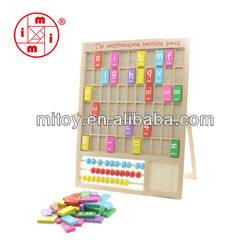wooden multi-activity alphabet learning board