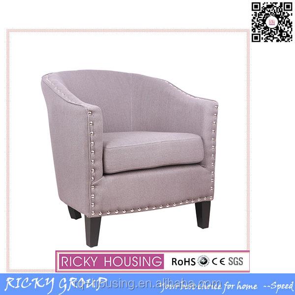 Modern grey comfortable single seater sofa chairs 20441 2 for Grey single chair