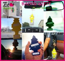 Factory custom car air freshener hanging paper car air freshener for promotional