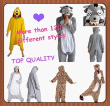 Newest fashion flannel pajamas unisex cosplay animal adult character onesie
