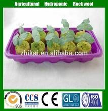 Lana di roccia agricole 60kg/m3 cubi per le verdure in crescita fuori suolo in cina