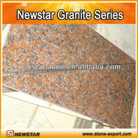 Maple red granite paving