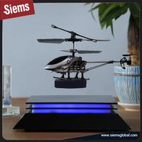 Look! LED lighting rotating 4inch magnetic levitation floating display