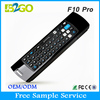 Wholesale cheap wireless keyboard and mouse 2.4g wireless Mele f10 pro chargeable air fly mouse for smart tv box