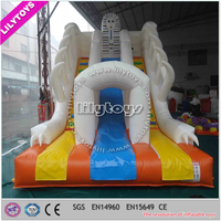 EN14960 hot selling halloween inflatable snow slide with best plato waterproof PVC