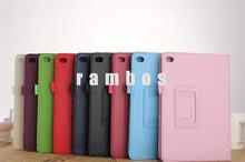 Ultra Thin Slim 2 Fold Stand Leather Litchi Case Folio Cover for iPad Mini 4 with Sleep Wake Up