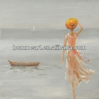 Hot sale New 100% hand-painted abstract oil painting sexy girl photos