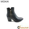 MK217-3 black genuine leather woman boots hot products in 2015