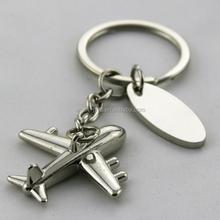 Custom metal 3D airplane keychain