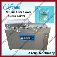 double chamber vacuum packing machine AZS-DZ6002S for sea food,salted meat,dry fish,pork,beef,rice 0086-150 9343 2115