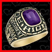 buy class rings gold purple stone set