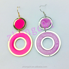 fashion enamel colorful heart earrings girl gifts earings love words engraved charms pendant jewellry