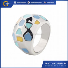 ERR0396 changeble adjustable ring, enamel ring wholesale