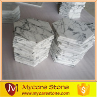 Arabescato White Marble Hexagonal Marble Plate