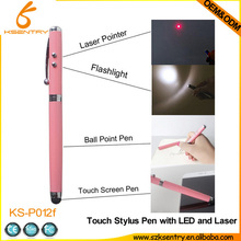 Stylus Pen 3 Pcs Set Multi-function - Capacitive Stylus, Ball Point Pen, Led Light for Smartphone & Tablet Pack of 3 Pcs (Blac