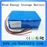 High Capacity 12v 60AH 18650 rechargeable wind energy storage li Ion Battery